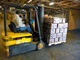 Thumbnail of fork lift moving pallet of food at the Food Bank of New Jersey